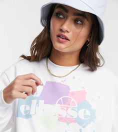 Oversized-свитшот с логотипом в винтажном стиле Ellesse-Белый