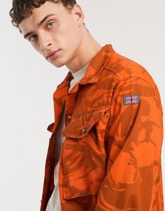 Оранжевая куртка с камуфляжным принтом в винтажном стиле Milk It-Оранжевый