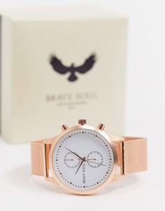 Часы с сетчатым браслетом Brave Soul-Золотой