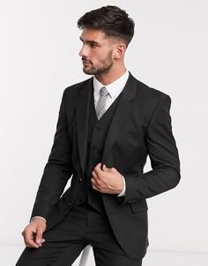 Черный зауженный пиджак ASOS DESIGN