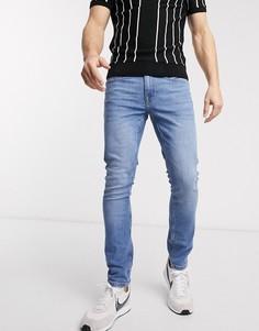 Ярко-синие джинсы скинни Burton Menswear-Синий