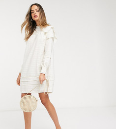 Свободное фактурное платье кремового цвета Vero Moda Tall-Бежевый
