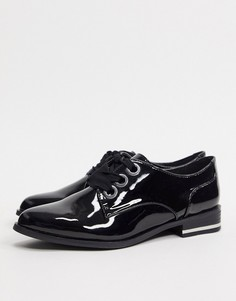 Черные туфли на плоской платформе с острым носом и шнуровкой ALDO-Черный
