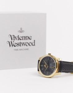Мужские часы с кожаным ремешком Vivienne Westwood Holborn II VV185GDBK-Черный