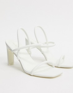 Босоножки на каблуке с квадратным носом и ремешками ALDO-Белый