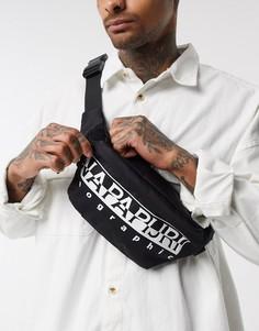 Черная сумка-кошелек на пояс Napapijri-Черный