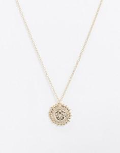 Золотистое ожерелье с подвеской в виде солнца Pieces-Золотой