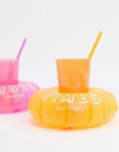 Надувные подставки для напитков Sunnylife malibu-Розовый