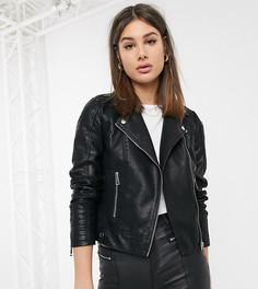 Куртка из искусственной кожи Vero Moda Tall-Черный