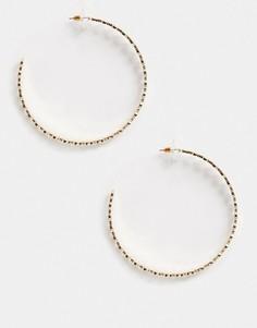 Золотистые серьги-кольца ASOS DESIGN-Золотой