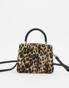 Миниатюрная сумка через плечо с леопардовым принтом Who What Wear Casey-Мульти