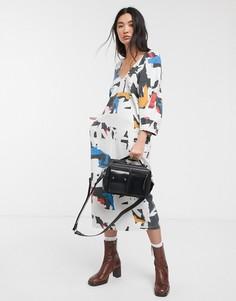 Платье миди в стиле колор блок LF Markey-Мульти