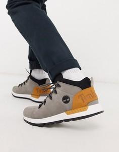 Серые высокие кроссовки Timberland-Серый