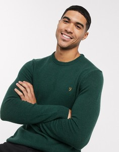 Джемпер с круглым вырезом Farah-Зеленый