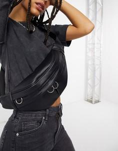 Черная сумка-кошелек на пояс Topshop-Черный