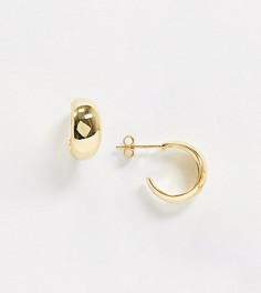 Позолоченные серьги-кольца в стиле хагги House of Freedom at Topshop-Золотой