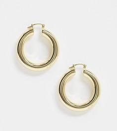 Позолоченные серьги-кольца House of Freedom at Topshop-Золотой