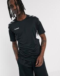 Черная трикотажная футболка Hummel-Черный