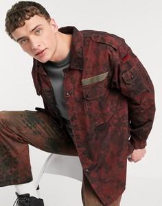 Красная куртка с камуфляжным принтом в винтажном стиле Milk It-Красный