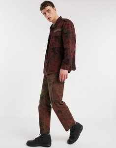 Красные брюки карго с камуфляжным принтом в винтажном стиле Milk It-Красный
