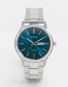 Серебристые наручные часы с синим циферблатом Sekonda эксклюзивно для ASOS-Серебряный