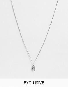 Серебряное ожерелье с пауком Reclaimed Vintage Inspired-Серебряный