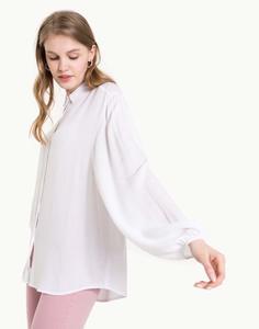 Белая рубашка из жатой ткани Gloria Jeans