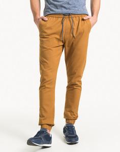 Коричневые брюки-джоггеры Gloria Jeans