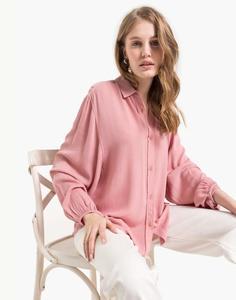 Розовая рубашка из жатой ткани Gloria Jeans