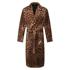 Шелковый халат Dolce & Gabbana