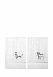 Набор полотенец кухонных Bellehome Dogs 50х70