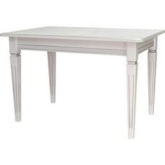 Стол обеденный Мебелик Васко В 86Н белый/серебро 120/170x80