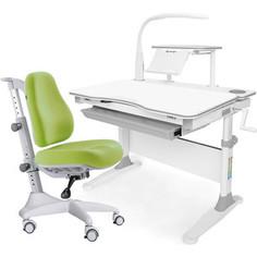 Комплект мебели (стол+полка+кресло+чехол+лампа) Mealux Evo-30 G (Evo-30 G + Y-528 KZ) белая столешница дерево/серый