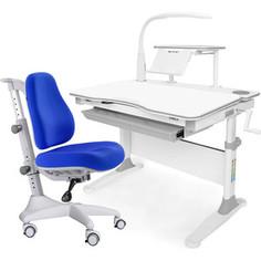 Комплект мебели (стол+полка+кресло+чехол+лампа) Mealux Evo-30 G (Evo-30 G + Y-528 SB) белая столешница дерево/серый