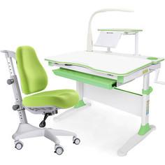 Комплект мебели (стол+полка+кресло+чехол+лампа) Mealux Evo-30 Z (Evo-30 Z + Y-528 KZ) белая столешница дерево/зеленый