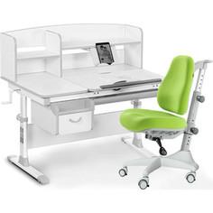 Комплект мебели (стол+полка+кресло+чехол) Mealux Evo-50 G (Evo-50 G + Y-528 KZ) белая столешница/серый