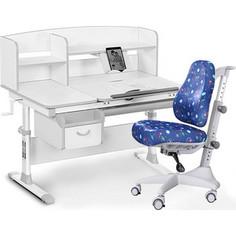 Комплект мебели (стол+полка+кресло+чехол) Mealux Evo-50 G (Evo-50 G + Y-528 F) белая столешница/серый