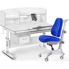 Комплект мебели (стол+полка+кресло+чехол) Mealux Evo-50 G (Evo-50 G + Y-528 SB) белая столешница/пластика серый