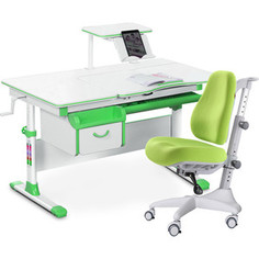 Комплект мебели (стол+полка+кресло+чехол) Mealux Evo-40 Z (Evo-40 Z + Y-528 KZ) белая столешница/зеленый