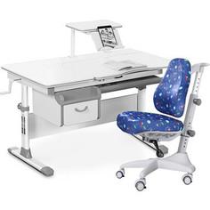 Комплект мебели (стол+полка+кресло+чехол) Mealux Evo-40 G (Evo-40 G + Y-528 F) белая столешница/серый