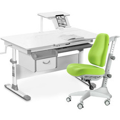 Комплект мебели (стол+полка+кресло+чехол) Mealux Evo-40 G (Evo-40 G + Y-528 KZ) белая столешница/серый