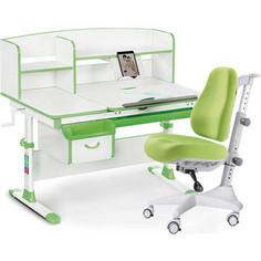 Комплект мебели (стол+полка+кресло+чехол) Mealux Evo-50 Z (Evo-50 Z + Y-528 KZ) белая столешница/зеленый