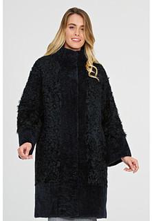 Комбинированная шуба из овчины на синтепоне Virtuale Fur Collection