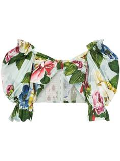 Dolce & Gabbana блузка-бандо с цветочным принтом
