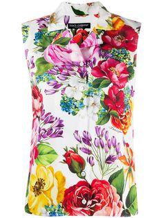 Dolce & Gabbana блузка без рукавов с цветочным принтом