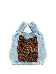 Simonetta Ravizza джинсовая сумка-тоут с леопардовым принтом