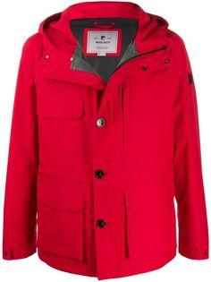 Woolrich куртка с капюшоном и нашивкой-логотипом