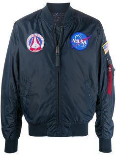 Alpha Industries бомбер с вышивкой NASA