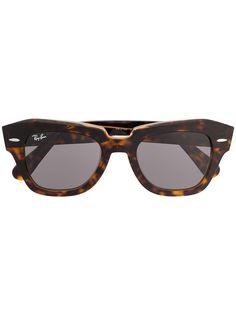 Ray-Ban очки в круглой оправе черепаховой расцветки