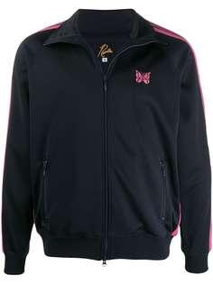Needles спортивная куртка с контрастными полосками и вышивкой